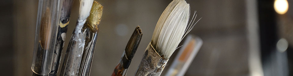 Frame painting brushes